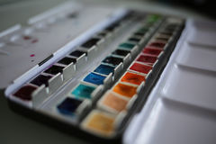 maluje akwarelę obraz stock