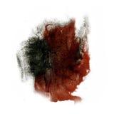 Maluje czarnego Brown pluśnięcia koloru atramentu akwareli uderzenia splatter watercolour aquarel muśnięcie Obrazy Royalty Free