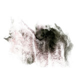 Maluje czarnego pluśnięcie koloru atramentu akwareli uderzenia splatter watercolour aquarel muśnięcie Fotografia Stock