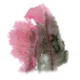 Maluje czerni menchii pluśnięcia koloru atramentu uderzenia splatter watercolour aquarel akwarela odizolowywającego muśnięcie Fotografia Royalty Free