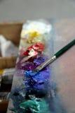 maluje paletę Obrazy Stock