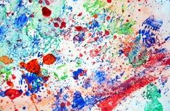 Maluje pluśnięcia kolorowego pastelowego tło, abstrakcjonistyczna kolorowa tekstura Obraz Royalty Free