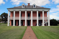 Malus-Beauregard House at Chalmette Battlefield, view from the levee side. This is the Malus-Beauregard House at Chalmette Battlefield, downriver from New Royalty Free Stock Photography