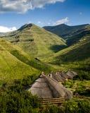 Maluti berg Rondavels Royaltyfri Bild