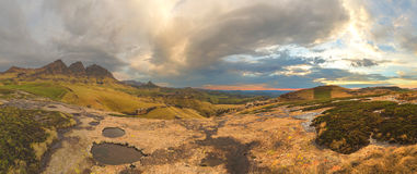 Maluti Mountain Panorama Royalty Free Stock Images