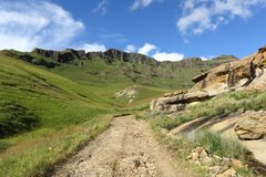 Maluti Mountain Road Stock Photos