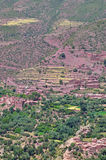 Malutka berber wioska w oazie Wysokie atlant góry Fotografia Stock