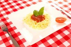 Malutka porcja spaghetti Zdjęcia Royalty Free