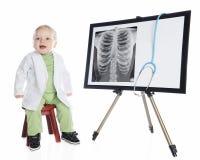 Malutka technika z promieniowaniem rentgenowskim Obrazy Stock