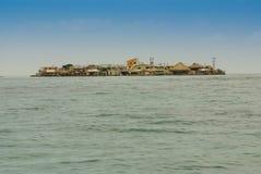 Malutka wyspa w karaibskim archipelagu San Bernardo blisko Tolu, Colombi Zdjęcie Royalty Free