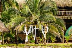 Malutka wyspa w karaibskim archipelagu San Bernardo blisko Tolu, Kolumbia Zdjęcie Royalty Free