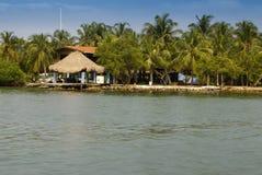 Malutka wyspa w karaibskim archipelagu San Bernardo blisko Tolu, Kolumbia Obraz Royalty Free