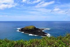 Malutka wyspa z Kilauea punktu w Kauai Hawaje Zdjęcie Royalty Free