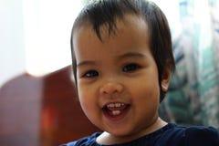 malutki uśmiech, dziewczyno Obraz Royalty Free