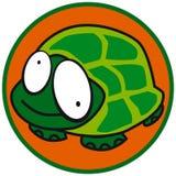 malutkie ikoną żółwia Fotografia Royalty Free