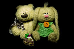 Malutkie trykotowe zabawki Zdjęcie Stock