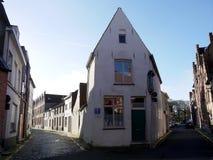 Malutkie ulicy Bruges, Belgia Zdjęcia Royalty Free