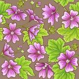 Malva vector pattern Royalty Free Stock Photography
