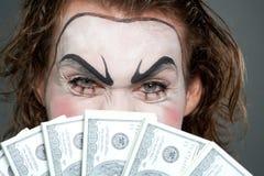 Malvagità finanziaria Fotografia Stock