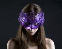 Malvagità nella mascherina Fotografia Stock Libera da Diritti