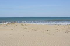 Malvarrosa beach at Valencia. Spain Stock Photos