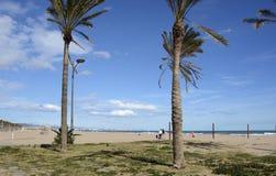 Malvarrosa beach at Valencia. Spain Royalty Free Stock Images