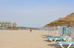 Malvarrosa Beach at Valencia, Spain Stock Image