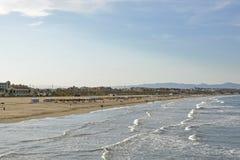 Malvarrosa Beach at Valencia, Spain Stock Photos