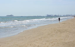 Malvarrosa Beach at Valencia, Spain Stock Photography
