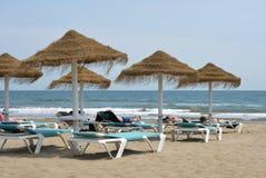 Malvarrosa Beach at Valencia, Spain Royalty Free Stock Images