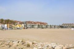 Malvarrosa Beach at Valencia, Spain Stock Images