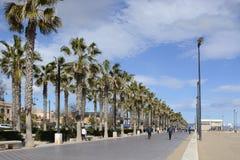 Malvarrosa beach at Valencia. Spain Royalty Free Stock Image