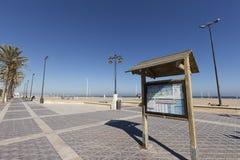 Malvarrosa plaża w jesieni Fotografia Stock