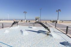 Malvarrosa plaża w jesieni Zdjęcie Royalty Free
