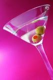 Malvenfarbener Martini Stockfoto