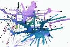 Malvenfarbener splattered Anstrich Stockfotografie