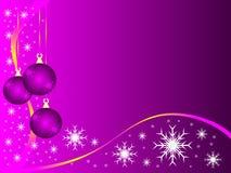 Malvenfarbener Weihnachtsflitter Lizenzfreie Stockfotos