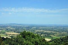 从Malvern小山的一个看法 库存照片
