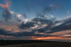 Malvern-Hügel-Sonnenuntergang Lizenzfreie Stockfotografie