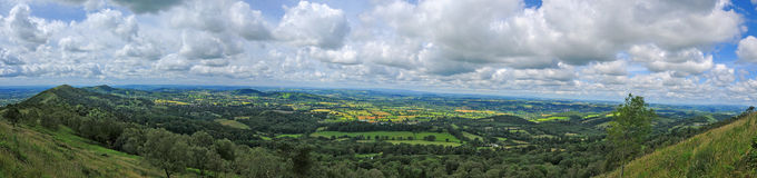 The malvern hills landscape Stock Photography