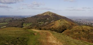 Malvern hills panorama Royalty Free Stock Photos