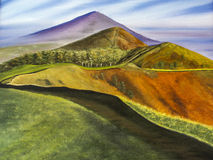 Malvern Hills Worcester painting Royalty Free Stock Image