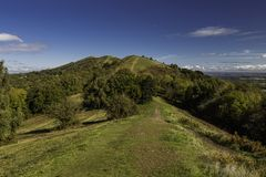 Malvern Hills. In Worcestershire . Looking along the top of the hills Stock Images