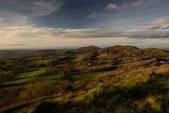 Malvern Hills Worcestershire at sunset Royalty Free Stock Images