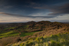 Malvern Hills Worcestershire at sunset Stock Photo