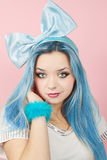 Malvina with the blue hair Stock Photos