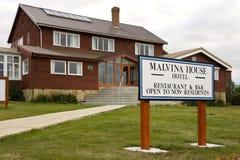 Malvina hushotell - Stanley - Falkland Islands Arkivbilder