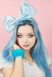 Malvina With The Blue Hair Stock Photos