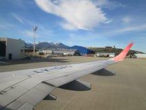 Malvinas Argentinas den internationella flygplatsen Ushuaia royaltyfria foton
