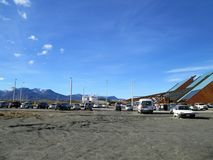 The Malvinas Argentinas International Airport Ushuaia. The Malvinas Argentinas International Airport is the airport that serves the city of Ushuaia, in Tierra Royalty Free Stock Photo